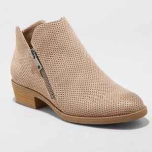 Universal threads by target taupe booties-7.5
